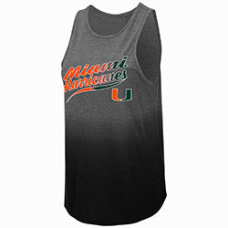 Miami Hurricanes 2019 WOMEN'S BERGER DIP DYE TANK - Grey/Black