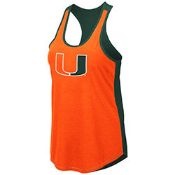 Miami Hurricanes 2019 WOMEN'S PUBLICIST TANK - Orange Front/Green Back