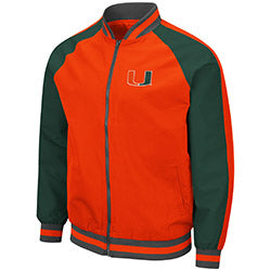 Miami Hurricanes 2019 MEN'S KENT BOMBER JACKET - ORANGE