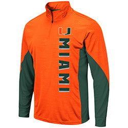 Miami Hurricanes Colosseum Mens Bart 1/4 Zip Windshirt
