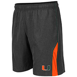 Miami Hurricanes 2019 MEN'S SOMOA SHORT - Charcoal