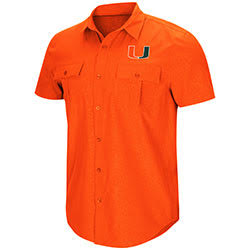 Miami Hurricanes MENS ROBERTO S/S WOVEN SHIRT