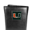 Miami Hurricanes Deluxe Leather Tri-fold Wallet