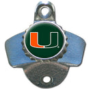 Miami Hurricanes Wall Mounted Bottle Opener - CanesWear at Miami FanWear Tailgate Gear Siskiyou CanesWear at Miami FanWear