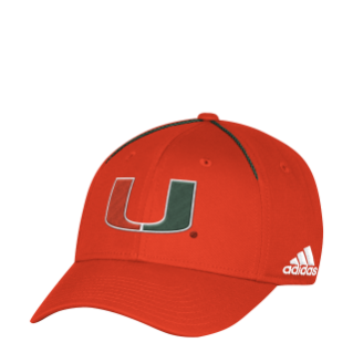 buy online 68a01 05955 ... Miami Hurricanes adidas 2017 Coaches Structured Flex Fitted Hat -  Orange ...