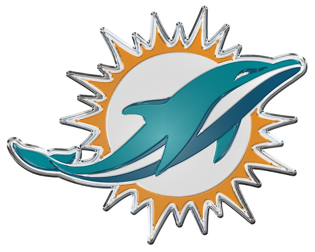 Miami Dolphins Auto Team Emblem Color - CanesWear at Miami FanWear Accessories Casey's Distribution CanesWear at Miami FanWear
