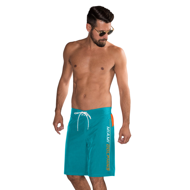 Miami Dolphins G-lll, Men's Swim Trunks, Bathing Suit  - Aqua