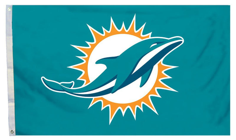 Miami Dolphins 3' x 5' Banner Flag - CanesWear at Miami FanWear Flags Fremont Die CanesWear at Miami FanWear
