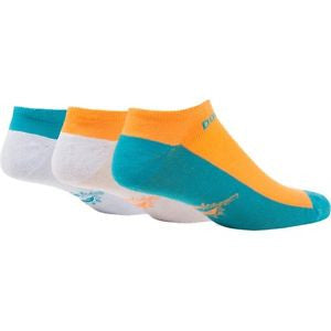 Miami Dolphins Socks 3-pack - Motion No Show 47 Brand - CanesWear at Miami FanWear Footwear & Socks 47 Brand CanesWear at Miami FanWear