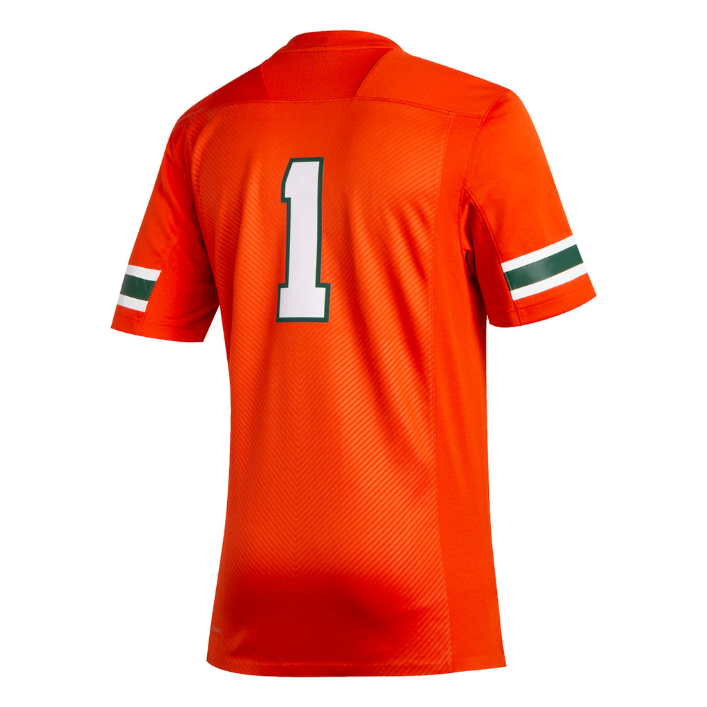 Miami Hurricanes adidas 2019 Home Football Premier Jersey - Orange