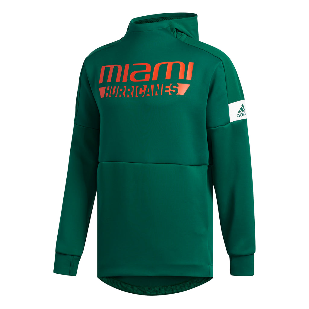 Miami Hurricanes 2019 Game Mode Pull Over - Green
