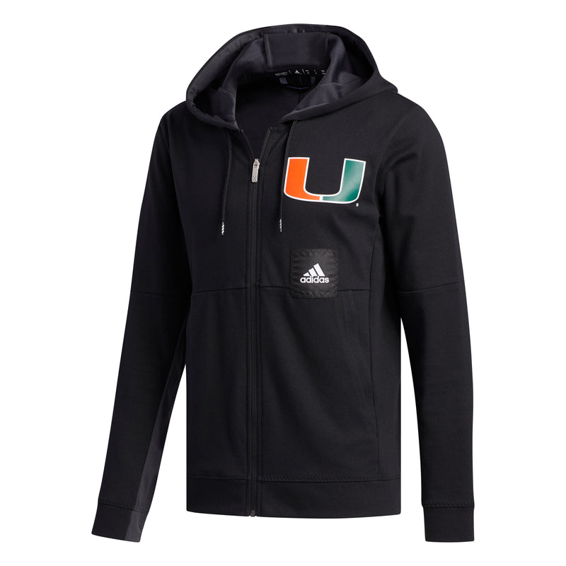 Miami Hurricanes adidas 2019 Swingman Full Zip Hoodie Jacket - Black