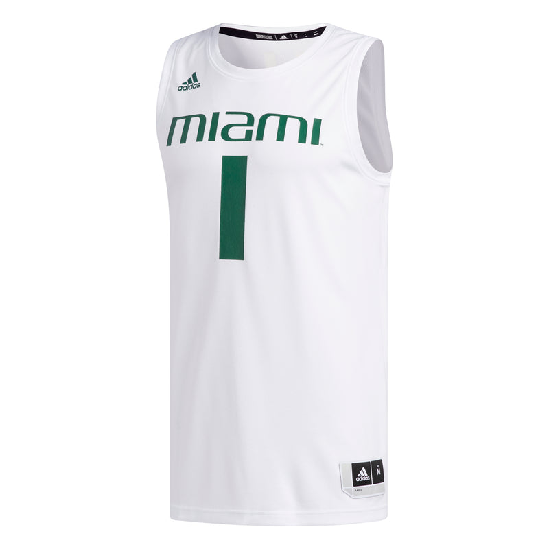 Miami Hurricanes adidas 2019 Swingman Basketball Jersey - White