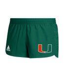 Miami Hurricanes adidas 2020 Women's Game Mode Training Shorts - Green