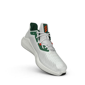 Miami Hurricanes adidas 2019 alphabounce+ U Shoes / Sneakers - White