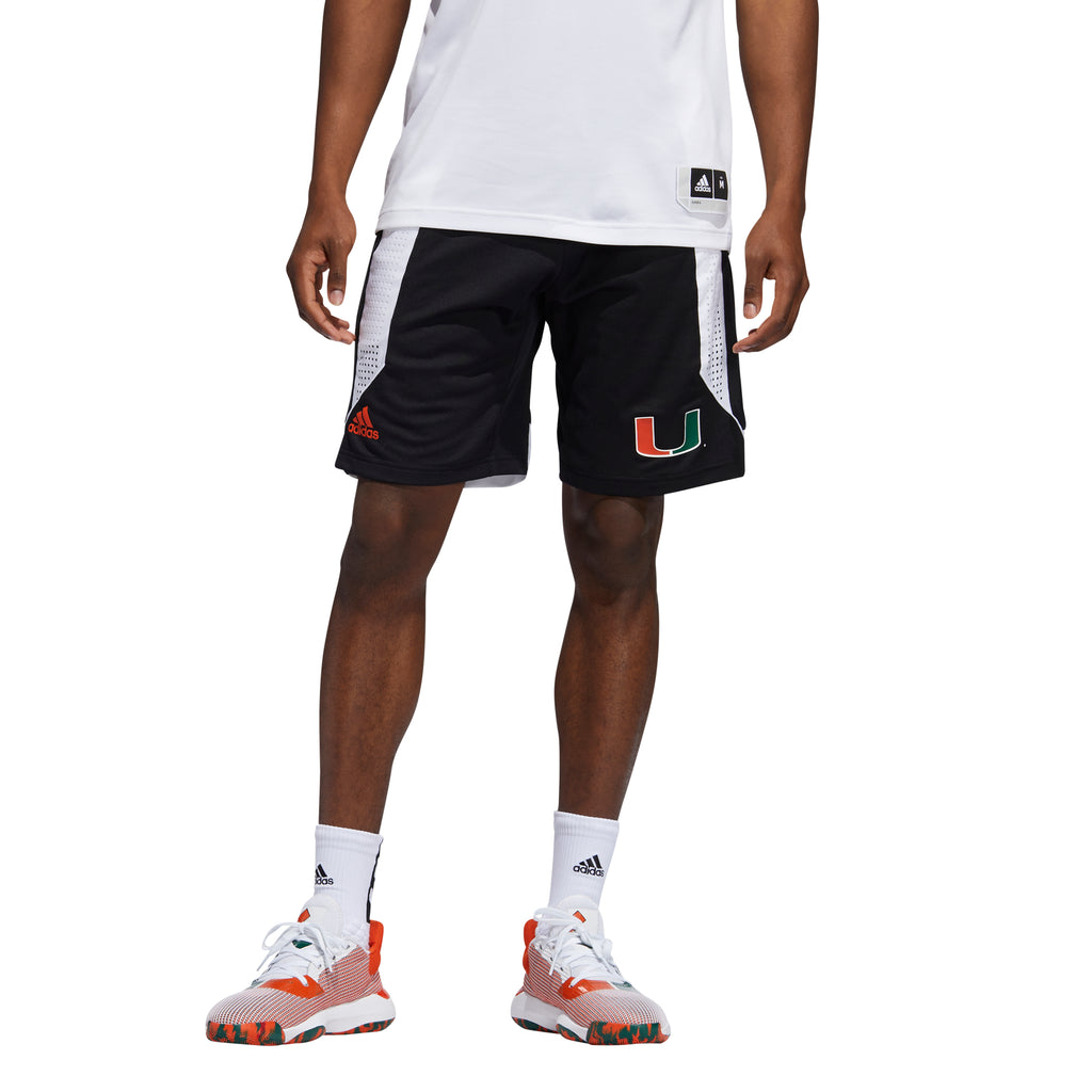 Miami Hurricanes adidas 2019 Basketball Swingman Shorts - Black