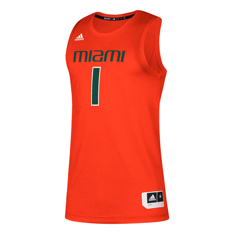 Miami Hurricanes adidas 2020 Swingman Basketball Jersey - Orange