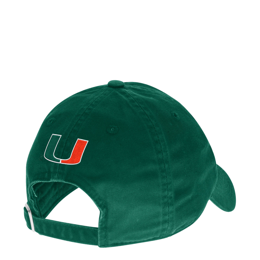 Miami Hurricanes adidas Old English Baseball Adjustable Slouch Hat - Green  ... 733c34b54c3