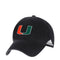 Miami Hurricanes adidas U Adjustable Slouch Hat - Black