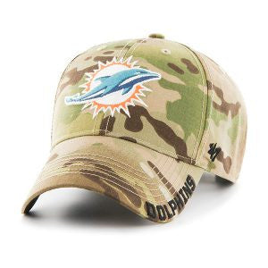 Miami Dolphins Myers MVP Multicam 47 Brand Adjustable Hat - CanesWear at Miami FanWear Headwear 47 Brand CanesWear at Miami FanWear