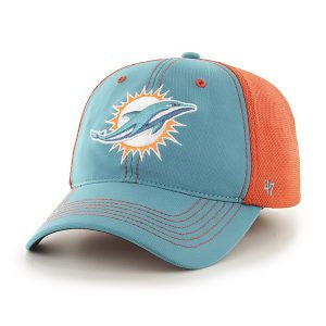 Miami Dolphins Reversal Closer Neptune 47 Brand Stretch Fit Hat - CanesWear at Miami FanWear Headwear 47 Brand CanesWear at Miami FanWear
