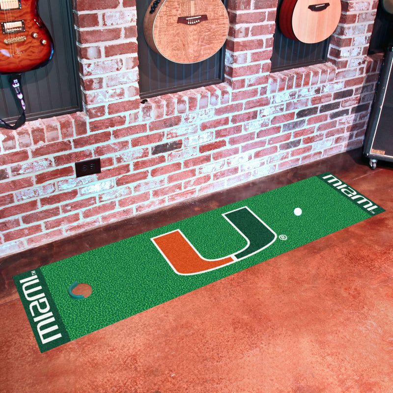 Miami Hurricanes Putting Green Mat 18