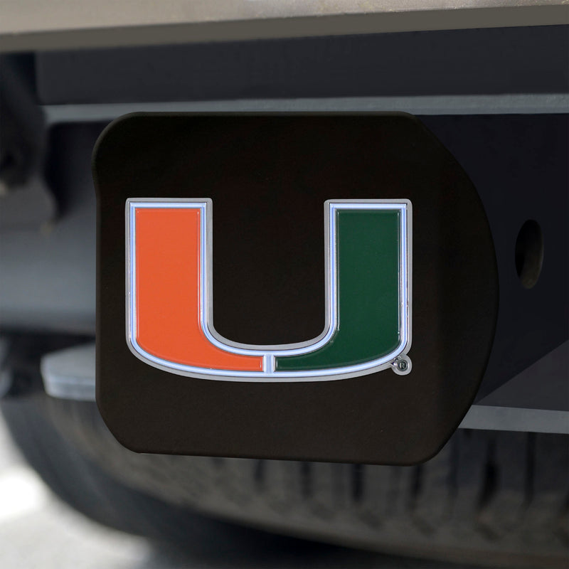 Miami Hurricanes Heavy Duty Color Hitch - Black