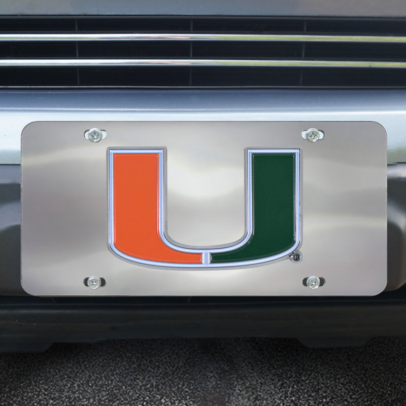 Miami Hurricanes Diecast License Plate 12