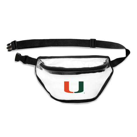 Miami Hurricanes Clear Fanny Pack