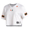 Miami Hurricanes adidas 2020 Women's Graphic Crop Jersey - White