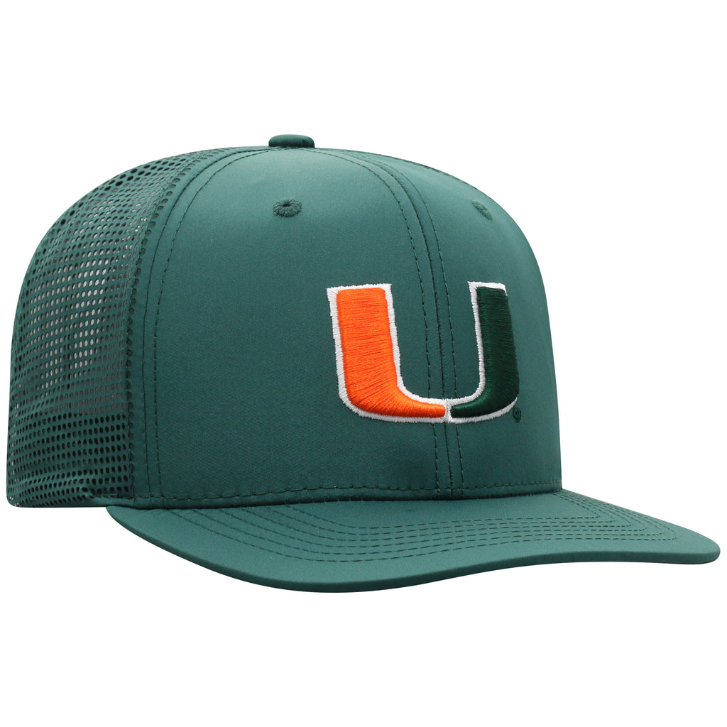 Miami Hurricanes Top of the World Flight Adjustable Hat- Green