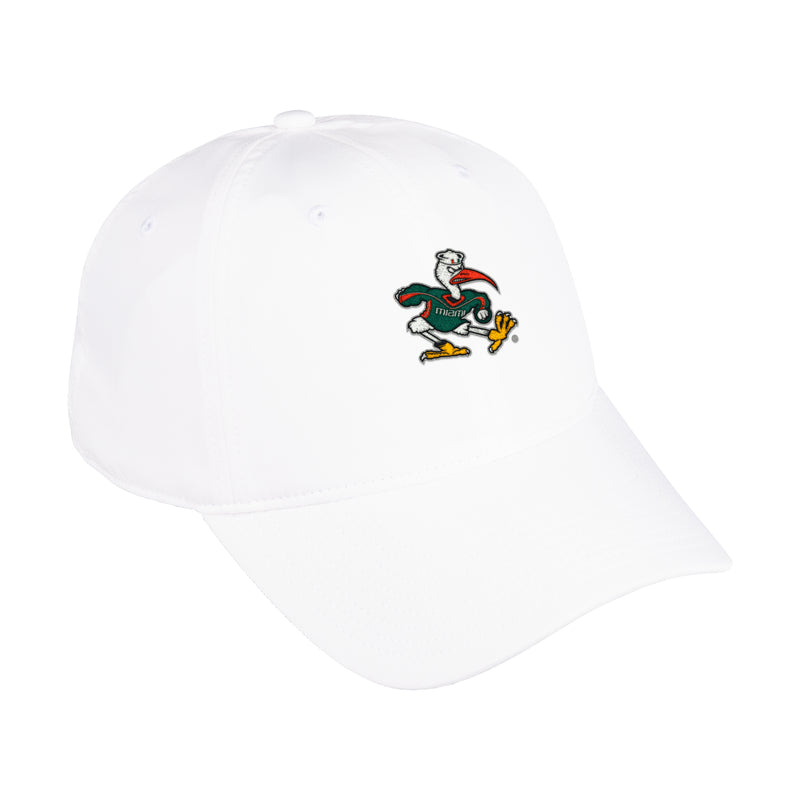 Miami Hurricanes 2020 adidas Sebastian Adjustable Dad Hat - White
