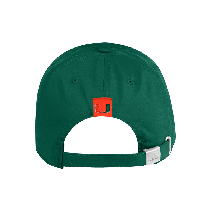 Miami Hurricanes adidas Sebastian Adjustable Dad Hat - Green