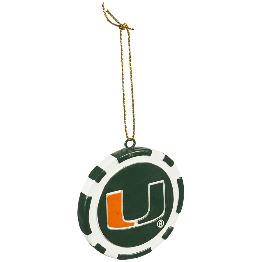 Miami Hurricanes Poker Chip Ornament