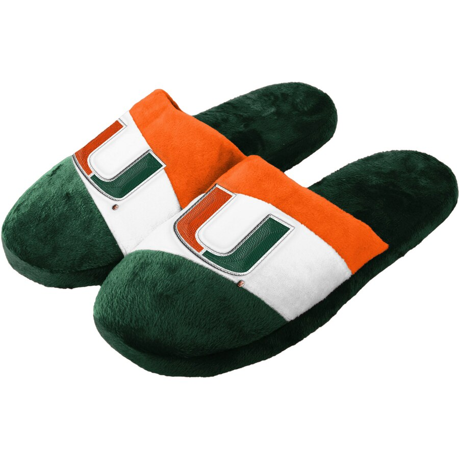 Miami Hurricanes Colorblock Slide Slippers