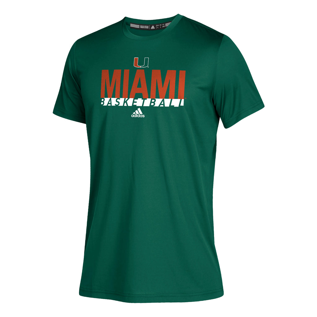 Miami Hurricanes adidas 2019 Youth Climatch Basketball Shirt - Green