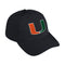 Miami Hurricanes adidas 2020 Coaches Slouch Adjustable Hat - Black