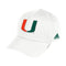 Miami Hurricanes adidas 2020 COACH STR Adjustable WHITE