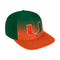 Miami Hurricanes adidas 2020 Color Fade Snapback Hat - Orange/Green