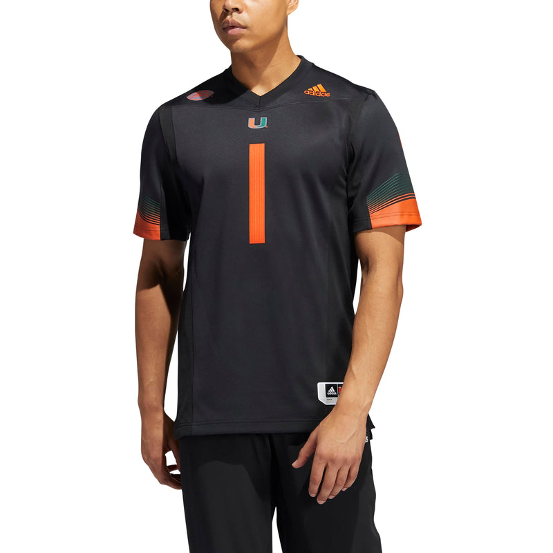 Miami Hurricanes 2020 Miami Nights 2.0 Premier Football Jersey - Black