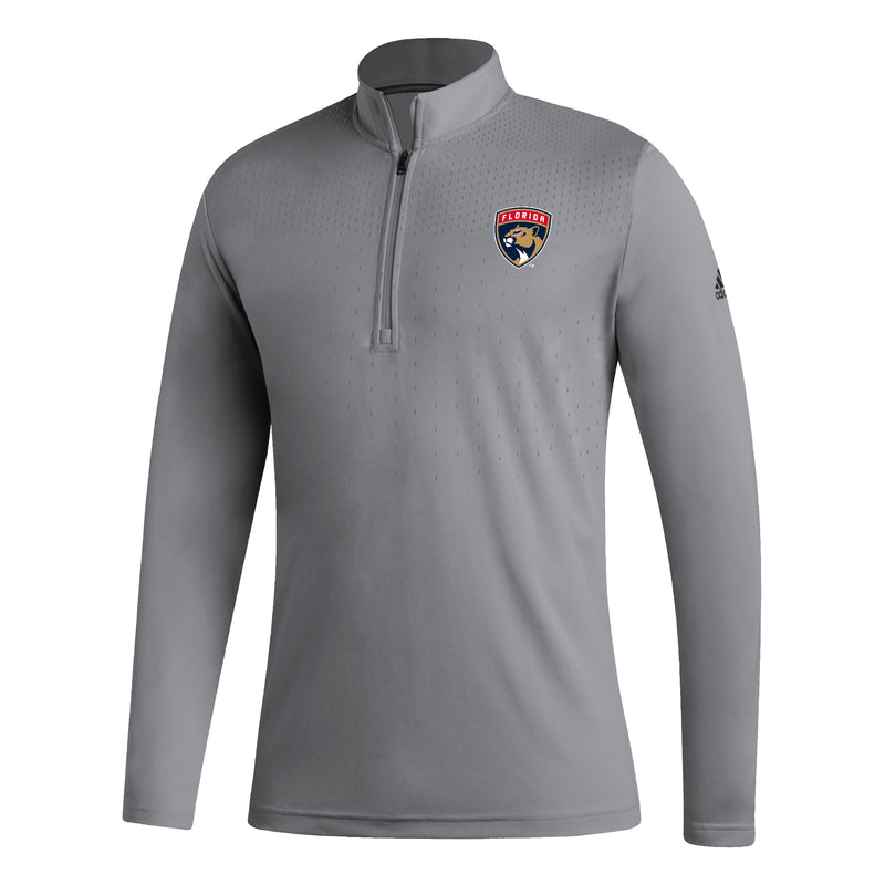 Florida Panthers 2020 NHL adidas 1/4 Zip L/S Training Shirt - Grey