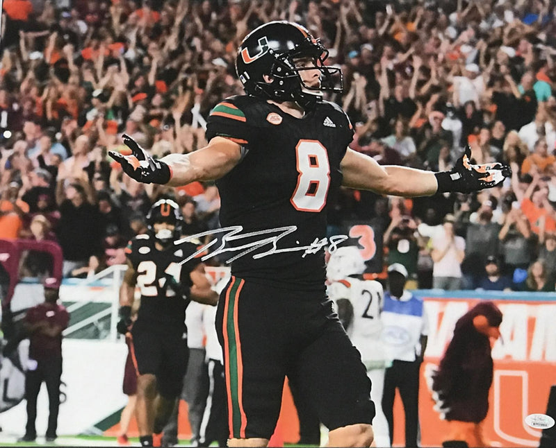 Braxton Berrios Signed Canvas- Miami Nights w/Color