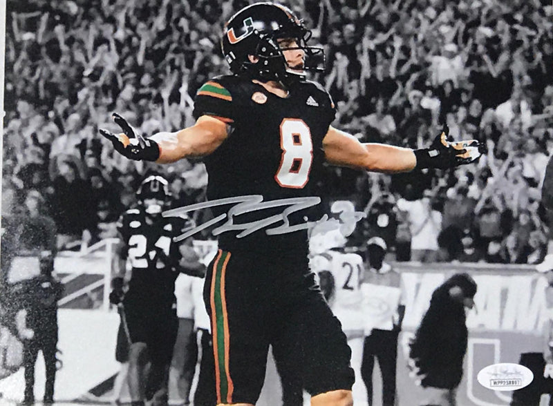 Braxton Berrios Signed Photo - BnW Miami Nights