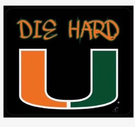 Miami Hurricanes Flippy Magz Die Hard All About Reversible Magnet