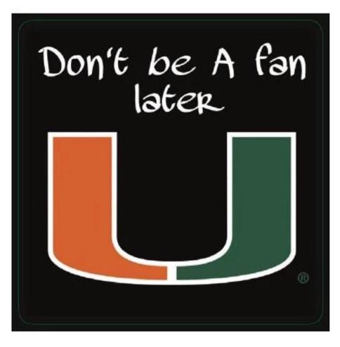 Miami Hurricanes Flippy Magz TNM Don't Be a Fan Later Reversible Magnet