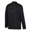 Miami Hurricanes adidas 2017 Full Zip Warm Up Jacket - Black