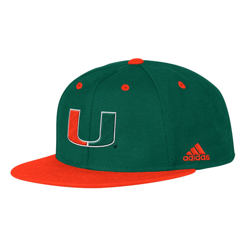 Miami Hurricanes adidas 2017 Men's Ultimate Throwback Helmet T-Shirt - Orange