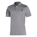 Miami Hurricanes adidas 2020 3-Stripe Polo - Grey