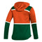 Miami Hurricanes adidas 2020 Women's Under the Lights Pullover Jacket - Green/Orange