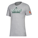 Miami Hurricanes adidas 2020 Locker Chromed Up Amplifier T-Shirt - Grey